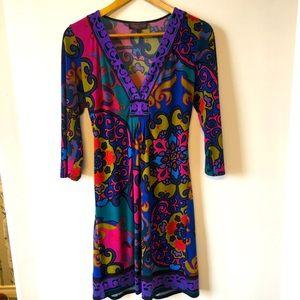 Hale Bob bright 3/4 sleeved dress